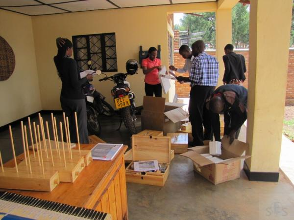 Delivery of SES lab materials to World Vision in Rutare