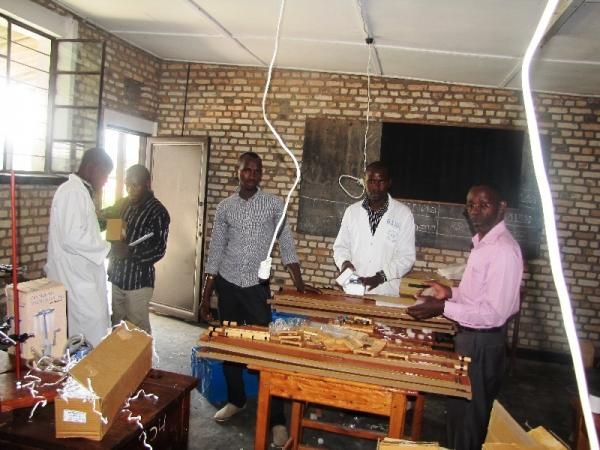 Delivery of lab materials to GSNDL Byimana