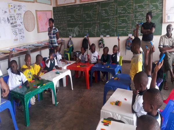Gatenga Nursery School pupils