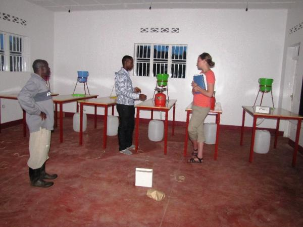 Delivery of lab materials to Rwamagana Lutheran School